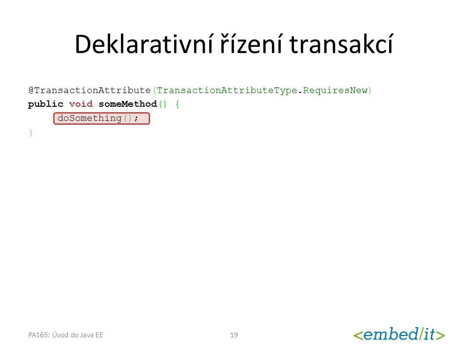 Deklarativní řízení transakcí