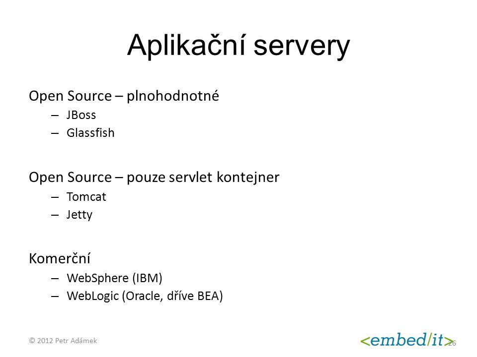 Aplikační servery Open Source – plnohodnotné