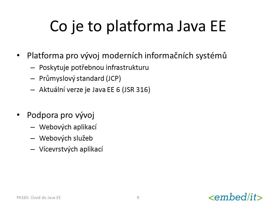 Co je to platforma Java EE
