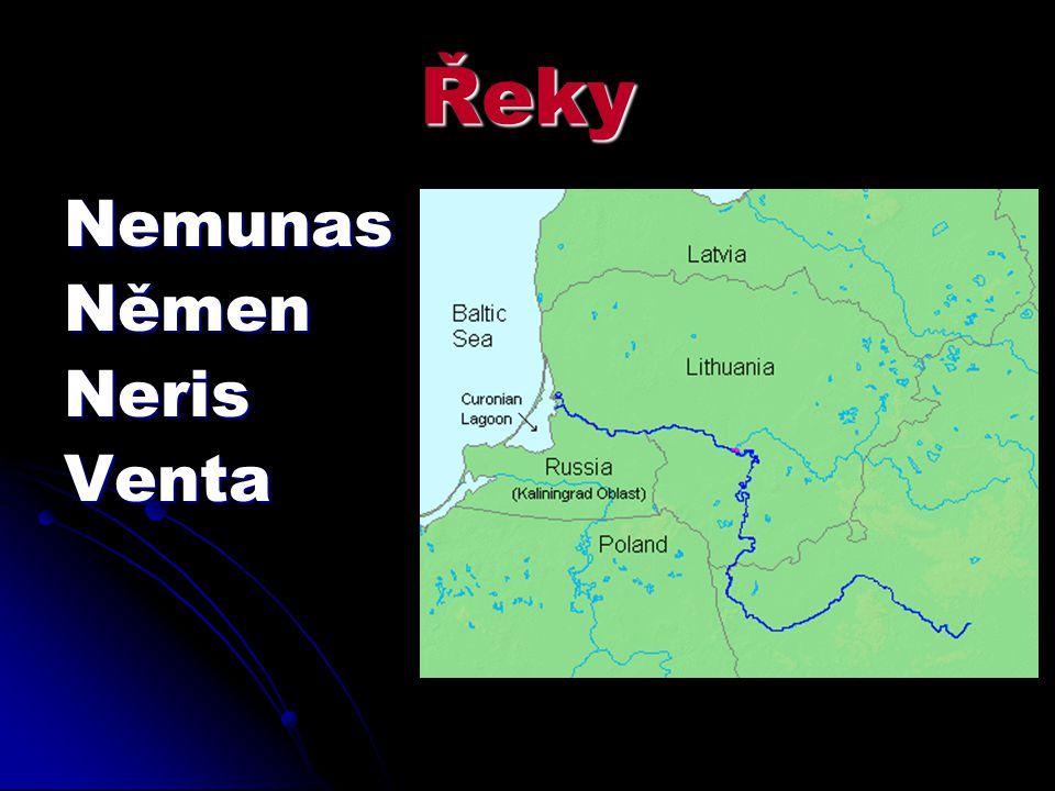 Řeky Nemunas Němen Neris Venta
