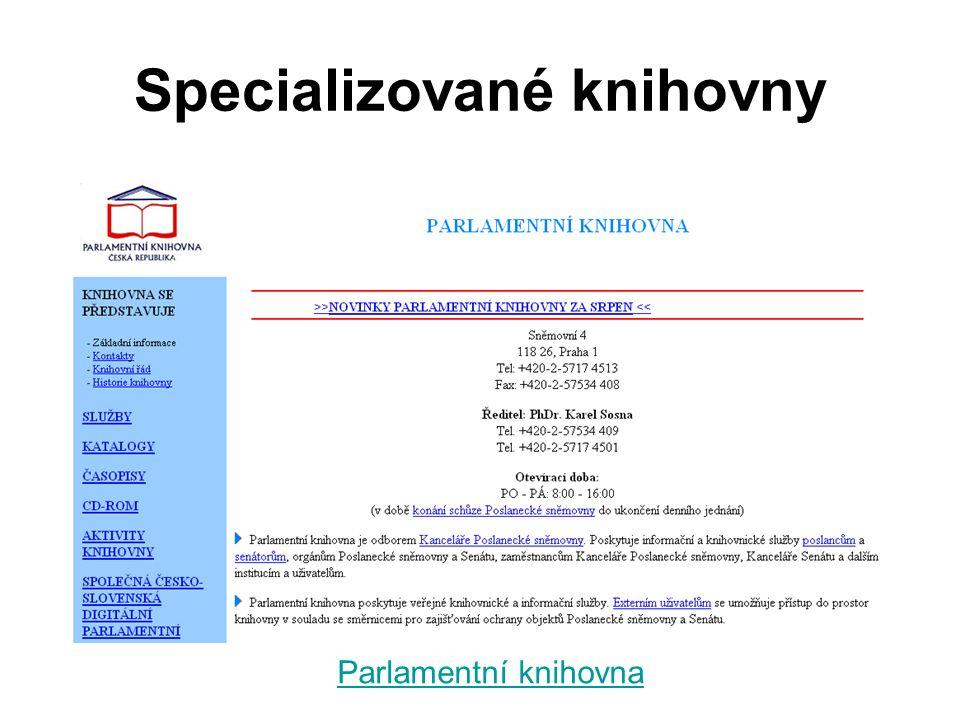 Specializované knihovny