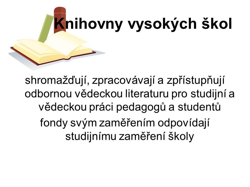 Knihovny vysokých škol