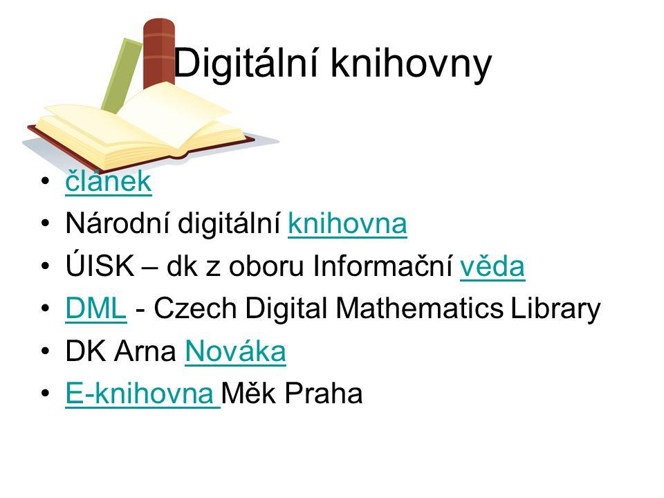 Digitální knihovny článek Národní digitální knihovna