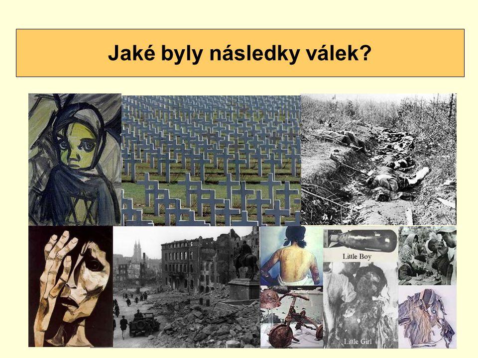 Jaké byly následky válek