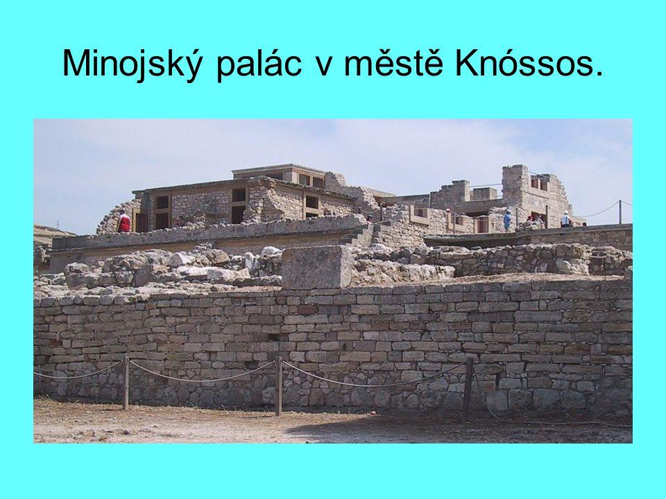Minojský palác v městě Knóssos.