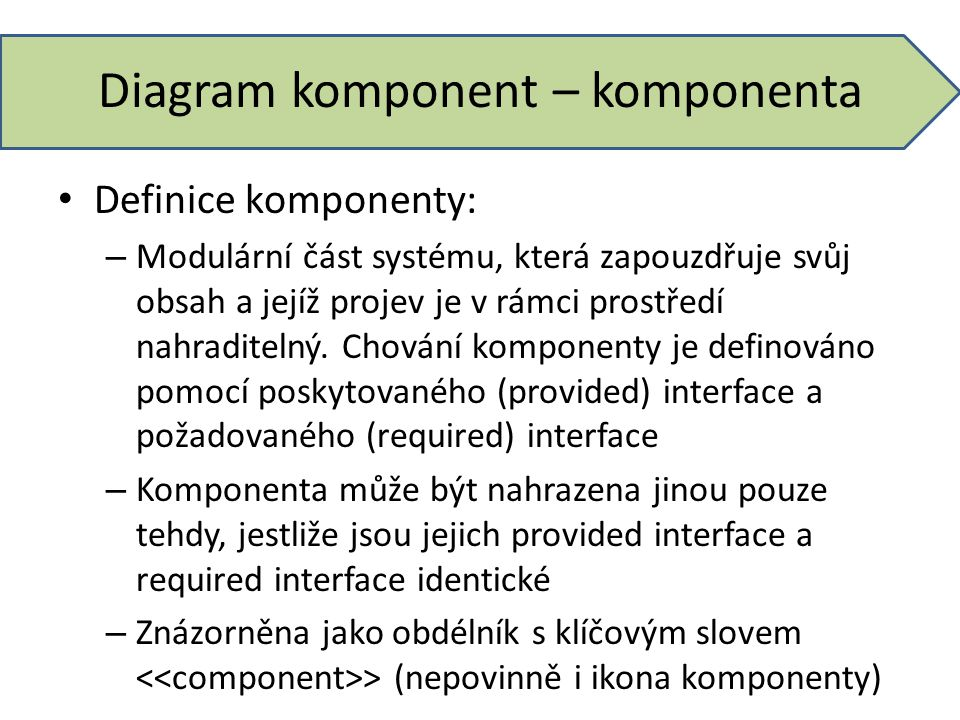 Diagram komponent – komponenta