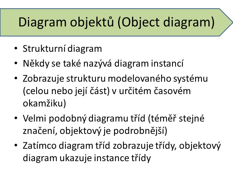 Diagram objektů (Object diagram)