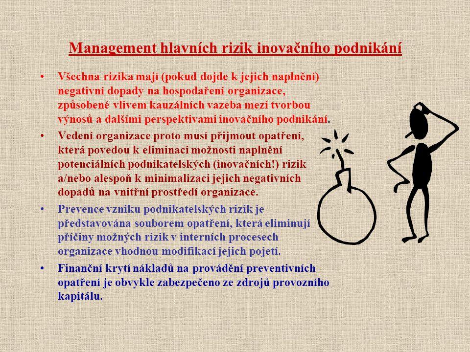 Management hlavních rizik inovačního podnikání