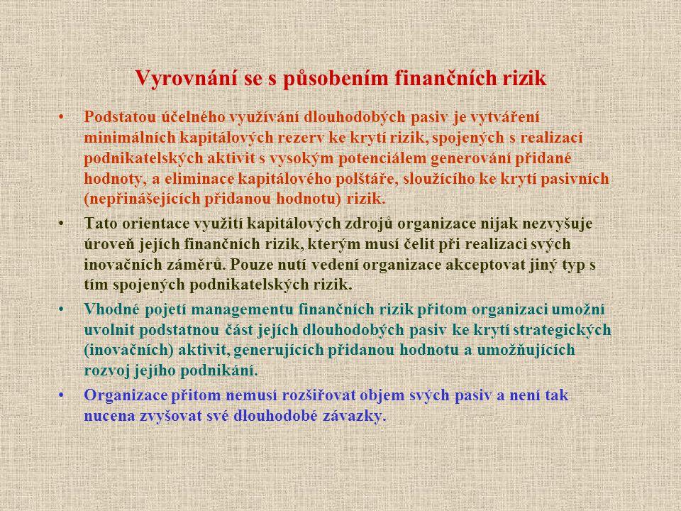 Vyrovnání se s působením finančních rizik