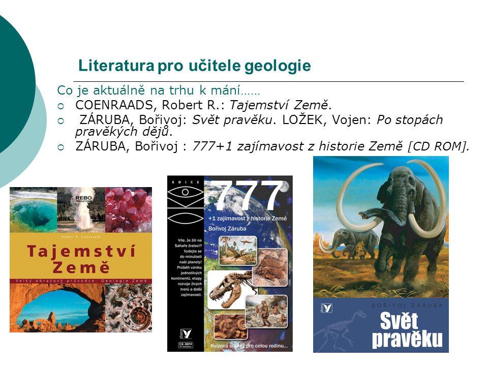Literatura pro učitele geologie