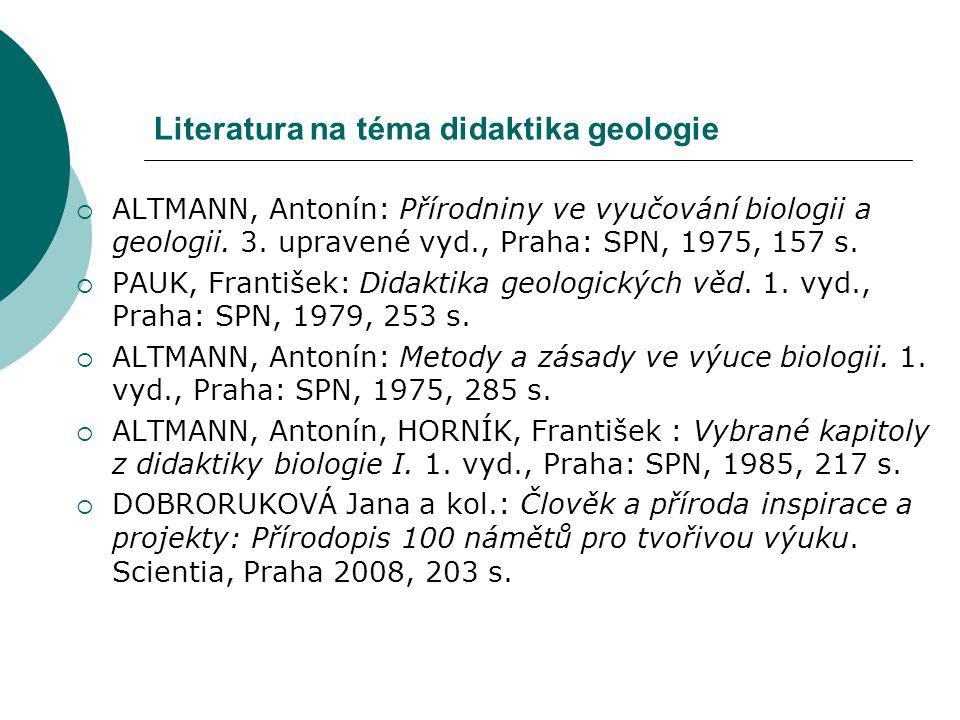 Literatura na téma didaktika geologie