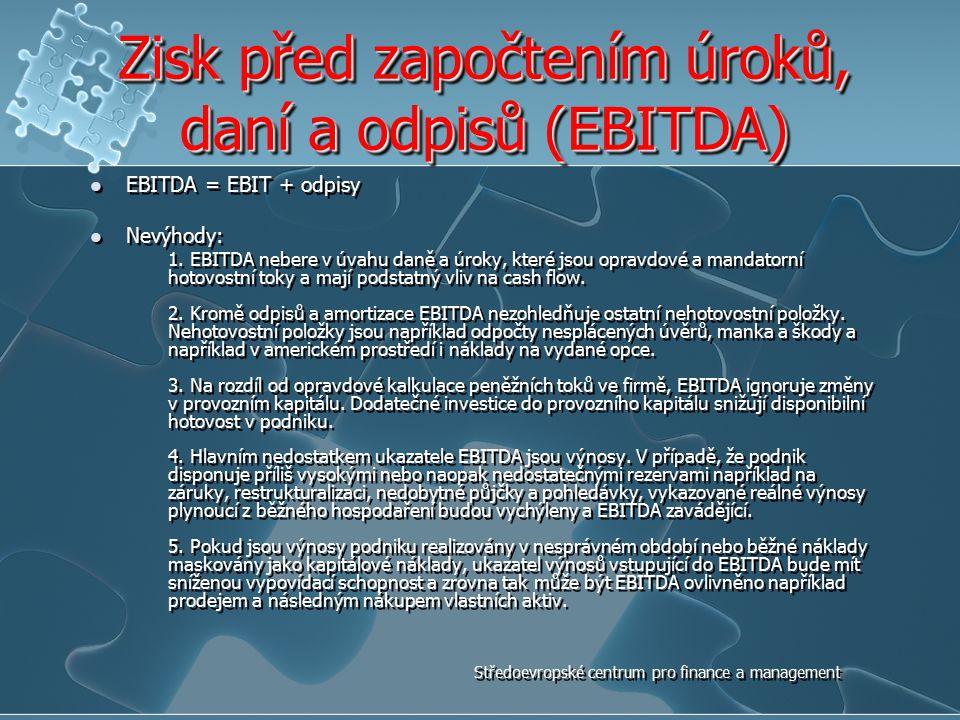 Zisk před započtením úroků, daní a odpisů (EBITDA)