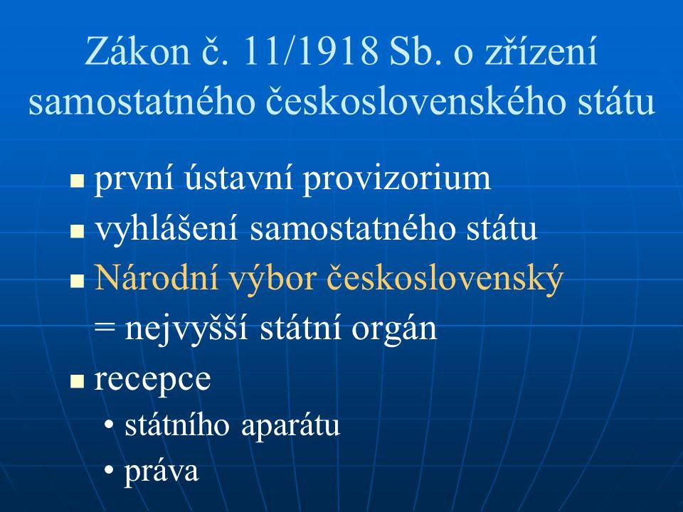 Zákon č. 11/1918 Sb. o zřízení samostatného československého státu