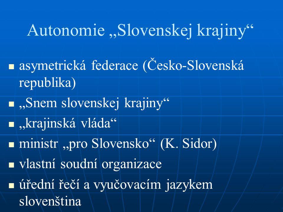 "Autonomie ""Slovenskej krajiny"