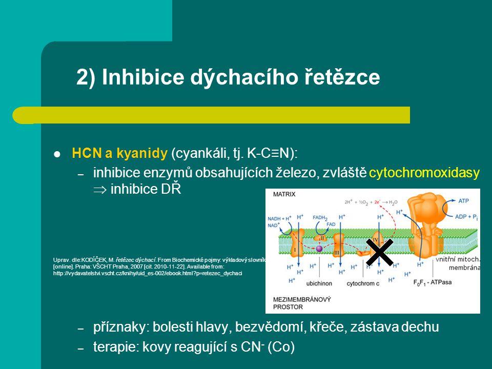 2) Inhibice dýchacího řetězce