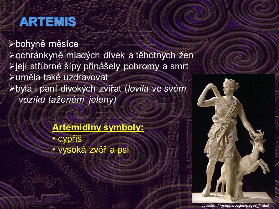 ARTEMIS bohyně měsíce ochránkyně mladých dívek a těhotných žen