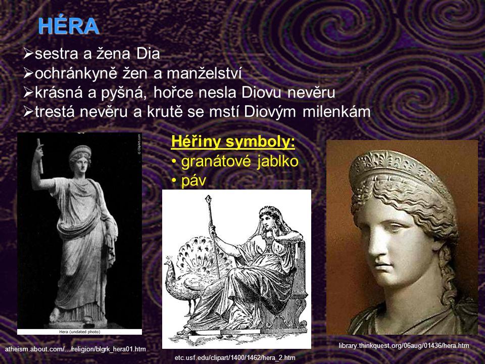 HÉRA sestra a žena Dia ochránkyně žen a manželství