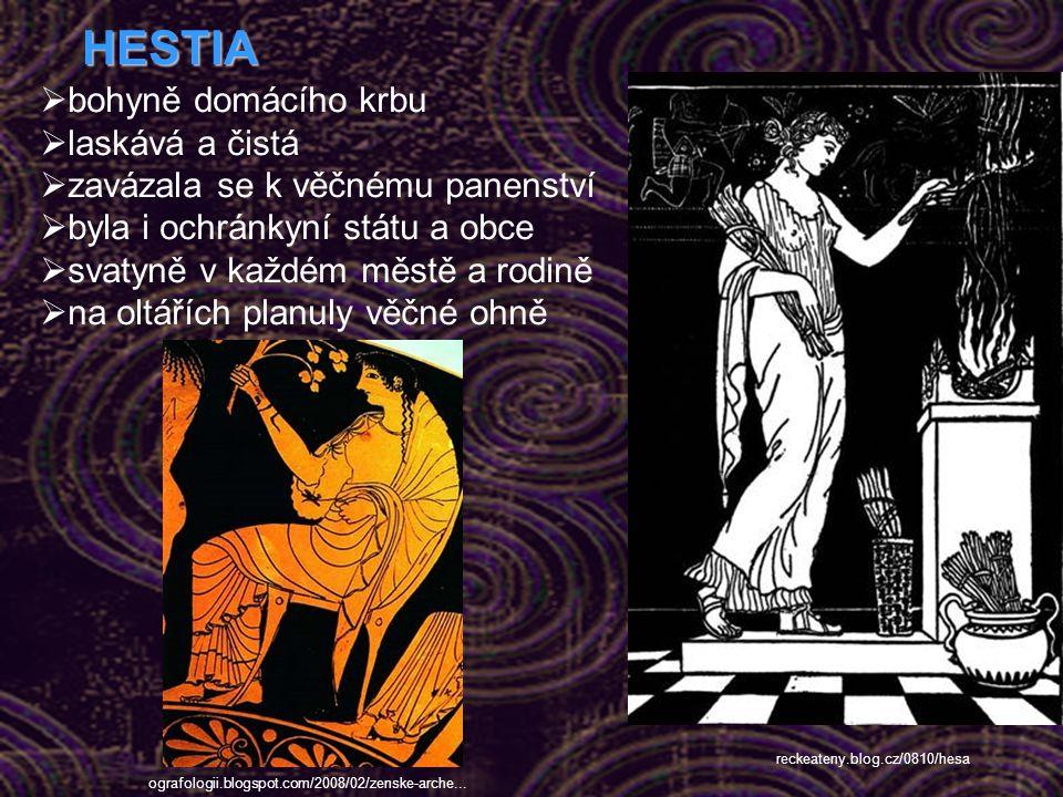 HESTIA bohyně domácího krbu laskává a čistá