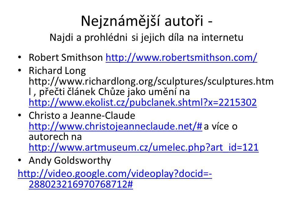 Nejznámější autoři - Najdi a prohlédni si jejich díla na internetu
