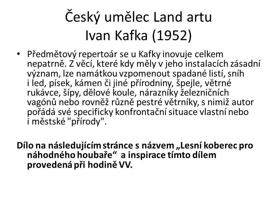 Český umělec Land artu Ivan Kafka (1952)