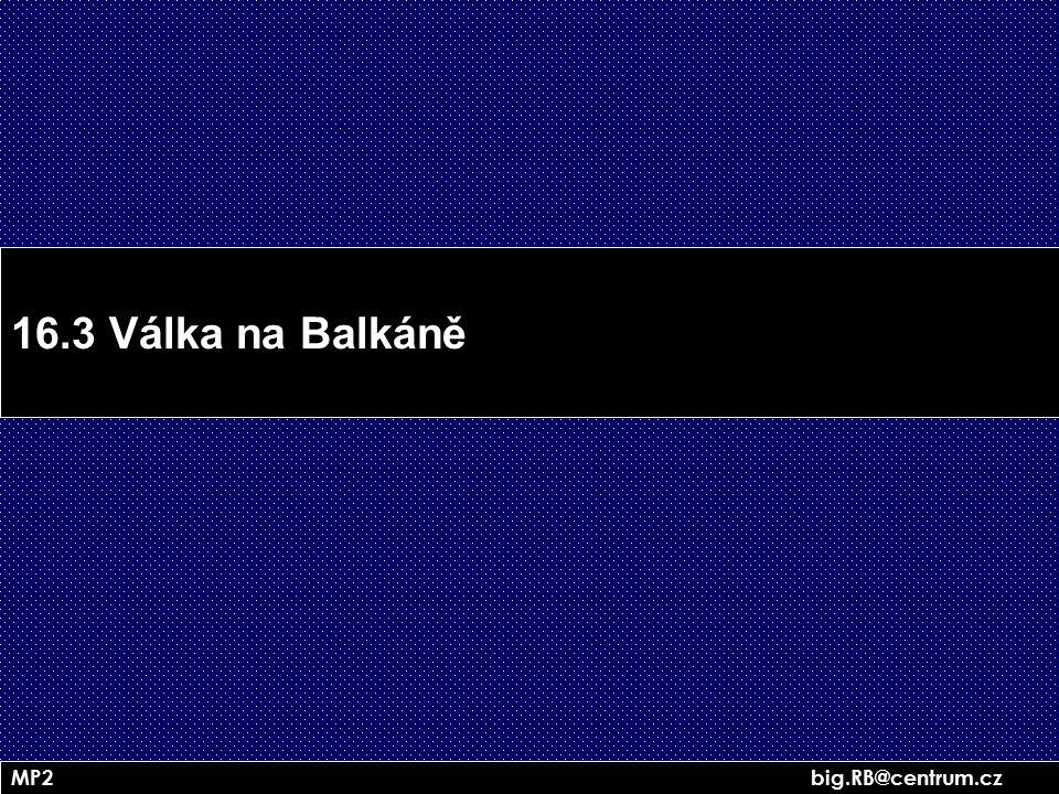 16.3 Válka na Balkáně