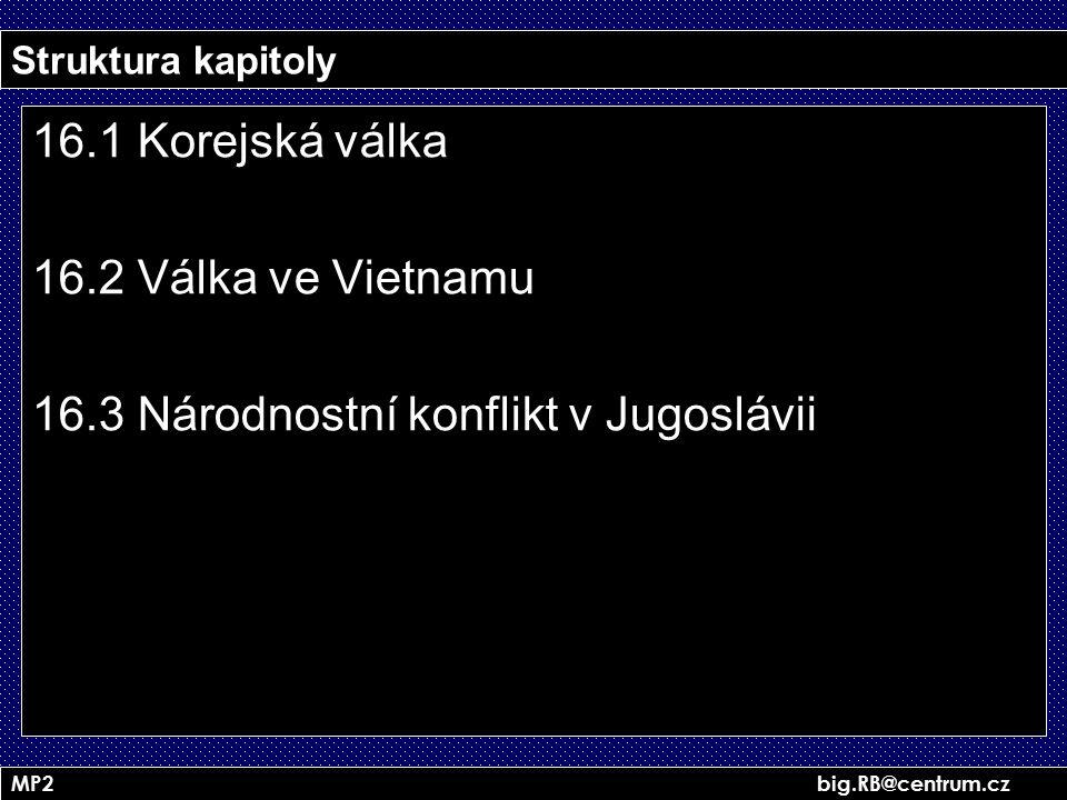 16.3 Národnostní konflikt v Jugoslávii