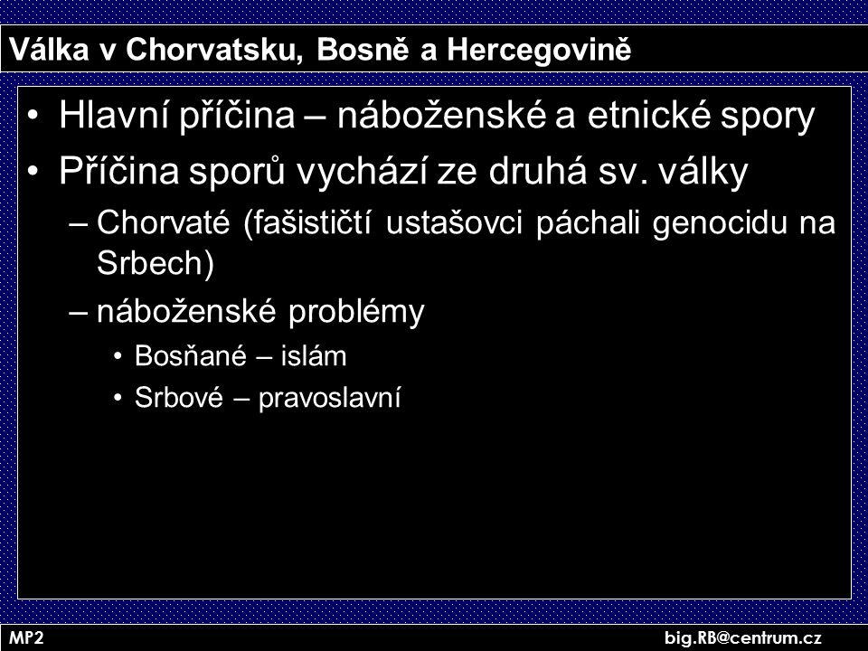 Válka v Chorvatsku, Bosně a Hercegovině