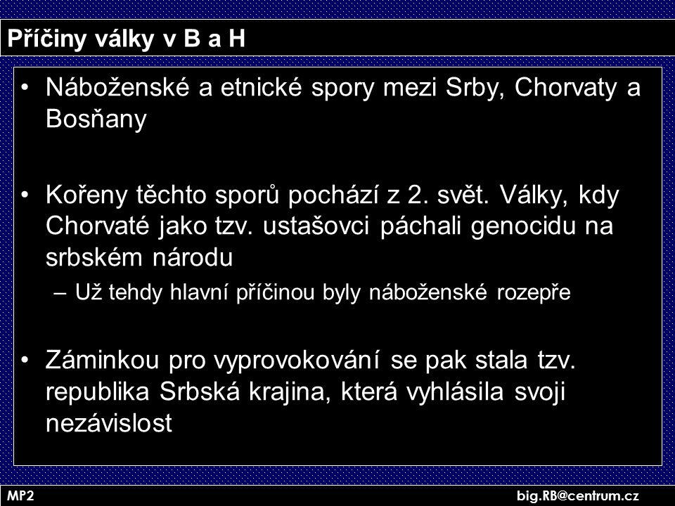 Náboženské a etnické spory mezi Srby, Chorvaty a Bosňany