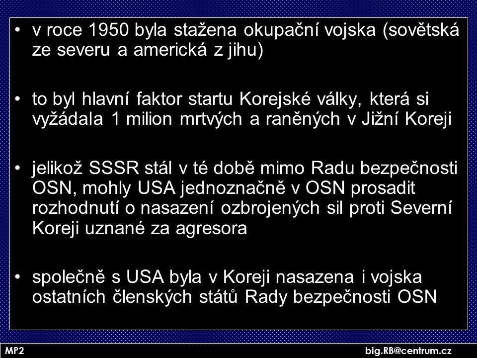 v roce 1950 byla stažena okupační vojska (sovětská ze severu a americká z jihu)