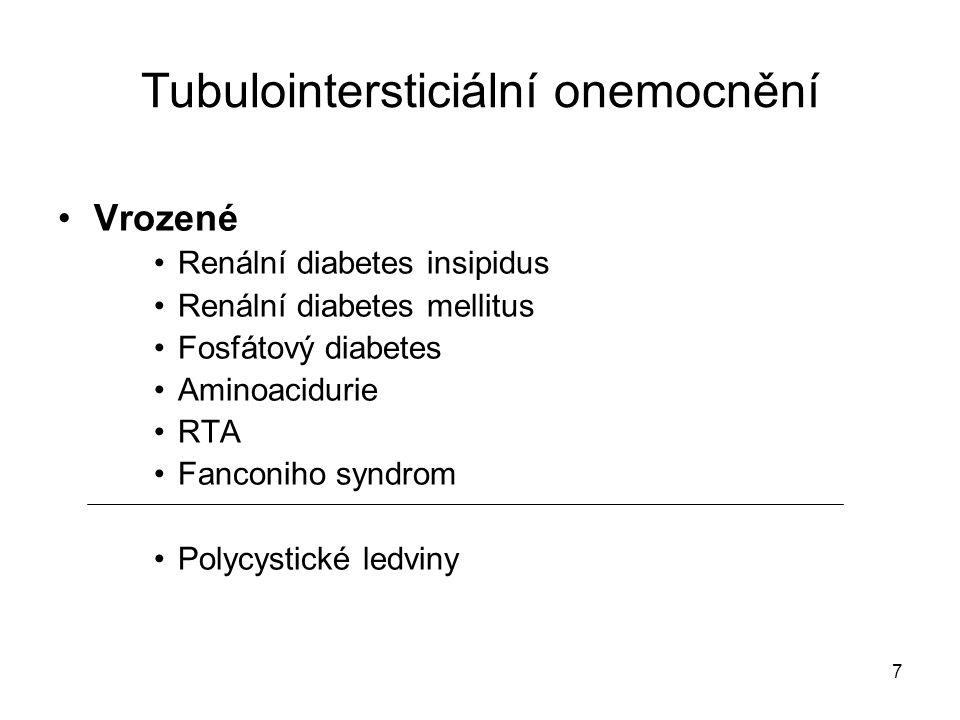 Tubulointersticiální onemocnění