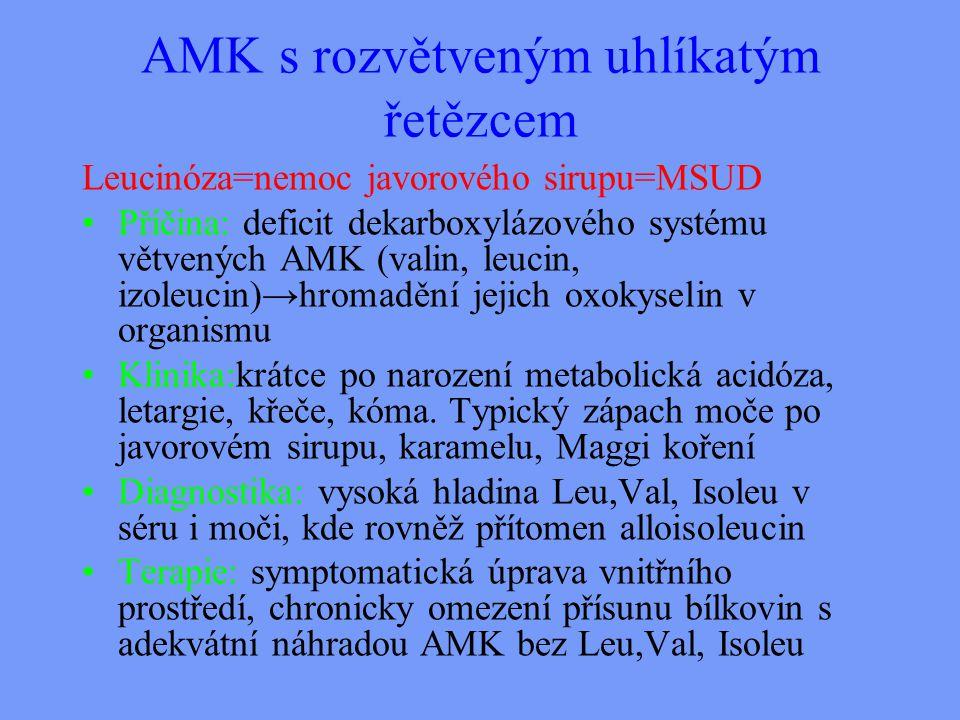 AMK s rozvětveným uhlíkatým řetězcem