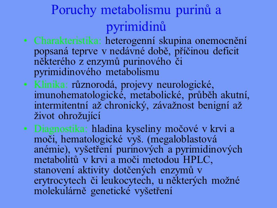 Poruchy metabolismu purinů a pyrimidinů