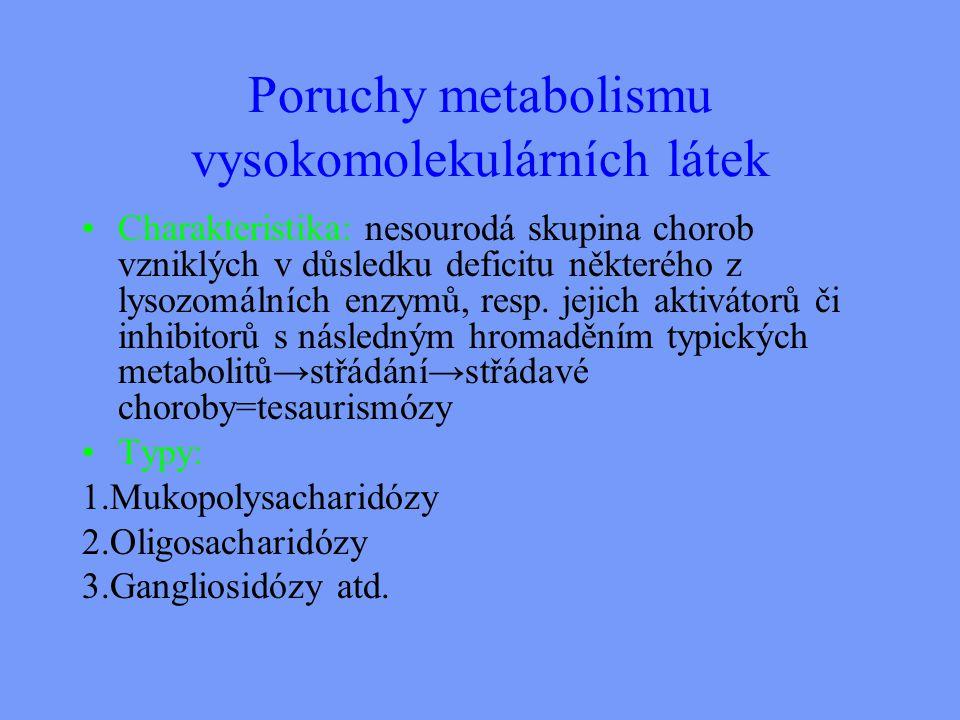 Poruchy metabolismu vysokomolekulárních látek