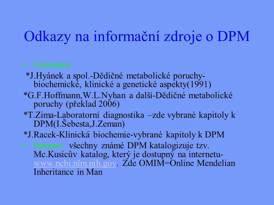 Odkazy na informační zdroje o DPM