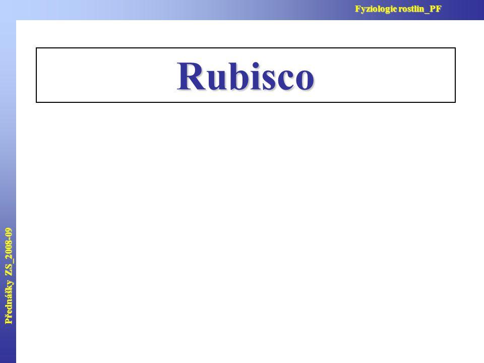 Přednášky ZS_2008-09 Fyziologie rostlin_PF Rubisco