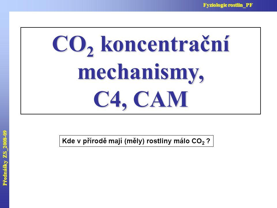 CO2 koncentrační mechanismy,
