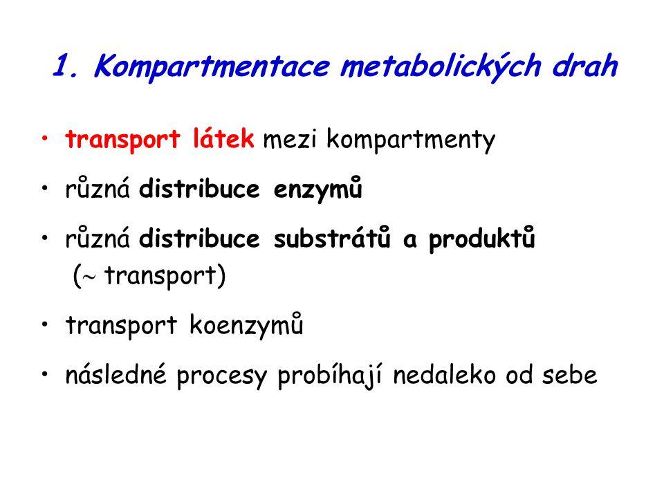 1. Kompartmentace metabolických drah