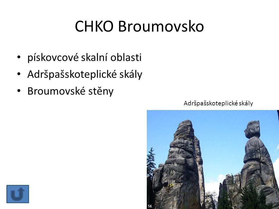 CHKO Broumovsko pískovcové skalní oblasti Adršpašskoteplické skály