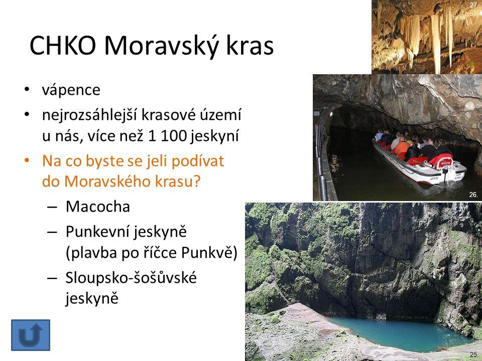 CHKO Moravský kras vápence