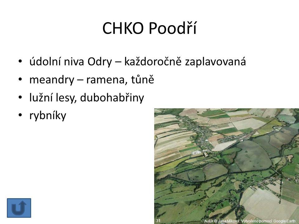CHKO Poodří údolní niva Odry – každoročně zaplavovaná