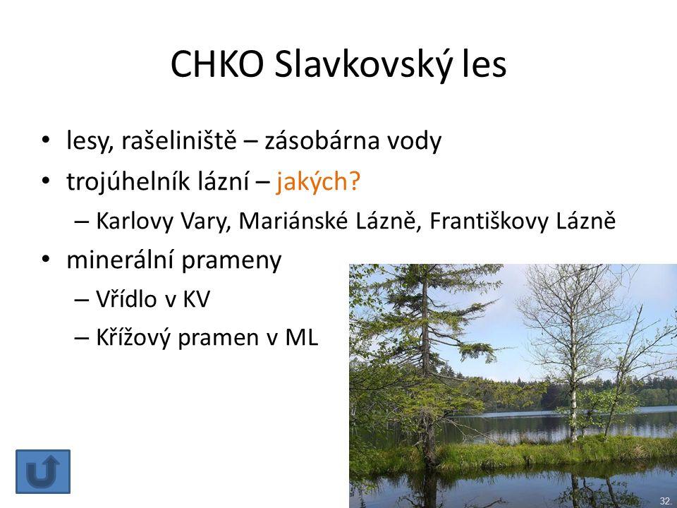CHKO Slavkovský les lesy, rašeliniště – zásobárna vody