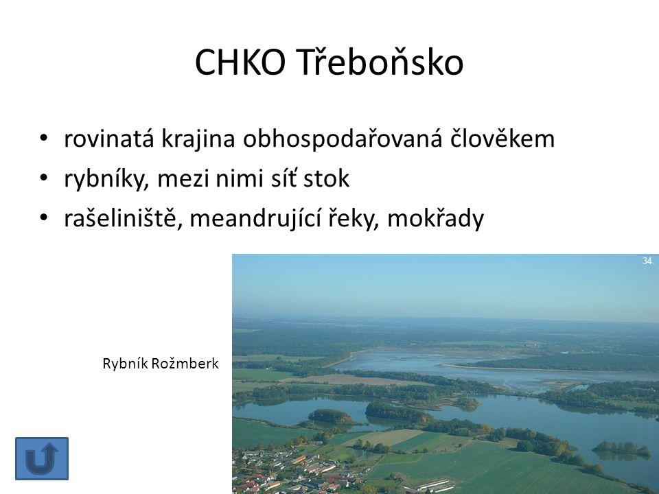 CHKO Třeboňsko rovinatá krajina obhospodařovaná člověkem