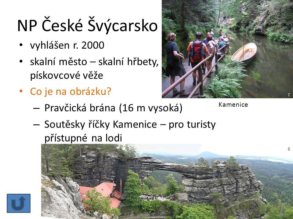 NP České Švýcarsko vyhlášen r. 2000