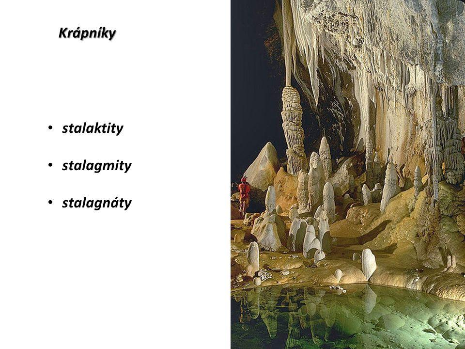 Krápníky stalaktity stalagmity stalagnáty
