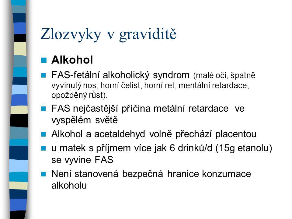 Zlozvyky v graviditě Alkohol
