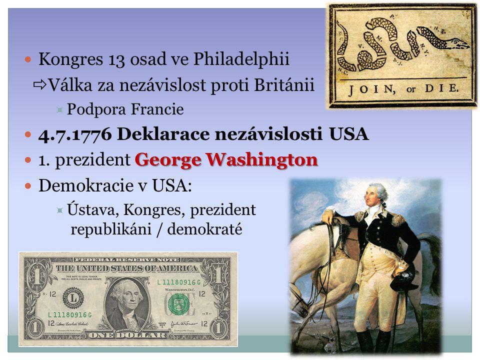 Kongres 13 osad ve Philadelphii Válka za nezávislost proti Británii