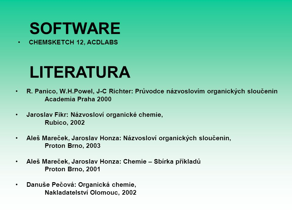 SOFTWARE LITERATURA CHEMSKETCH 12, ACDLABS