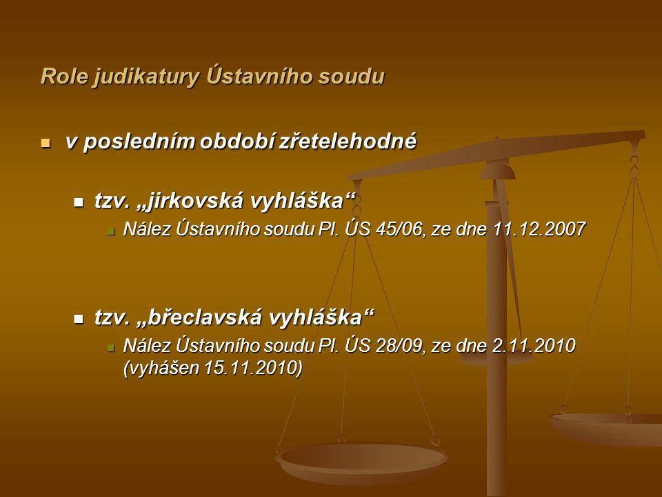 Role judikatury Ústavního soudu