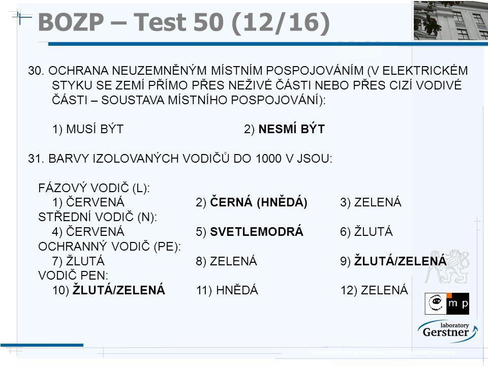 BOZP – Test 50 (12/16) 25/11/08.
