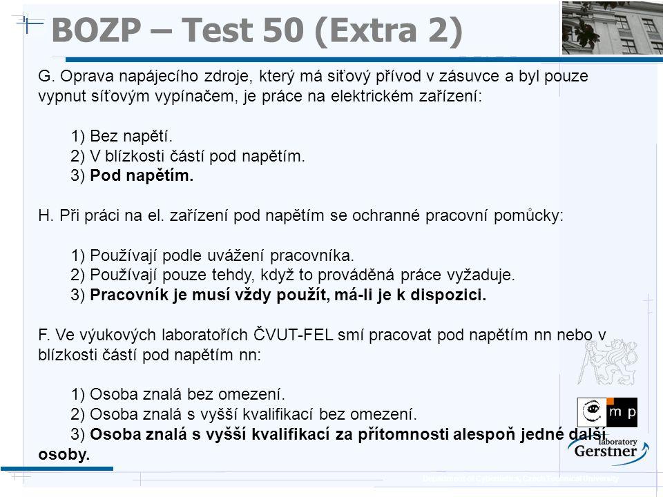 BOZP – Test 50 (Extra 2) 25/11/08.